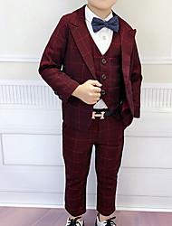 cheap -Kids Boys' Street chic Plaid Long Sleeve Regular Clothing Set Blue
