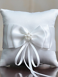 cheap -Fabric Satin Bow Cotton / Linen Ring Pillow Pillow All Seasons