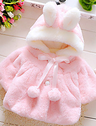 cheap -Baby Girls' Basic Solid Colored Long Sleeve Rabbit Fur / Cotton Blouse White / Toddler
