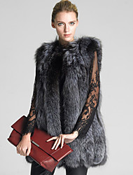cheap -Sleeveless Faux Fur Wedding / Party / Evening Women's Wrap With Solid Vests