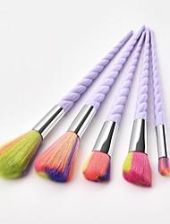 cheap -5 Pieces Makeup Brushes Professional Blush Brush / Eyeshadow Brush / Lip Brush Nylon fiber Full Coverage