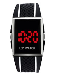 cheap -Men's Wrist Watch Digital Watch Digital Rubber Black / White / Red Calendar / date / day Chronograph New Design Digital Sparkle Bangle - Blue / Black Red Black / White One Year Battery Life