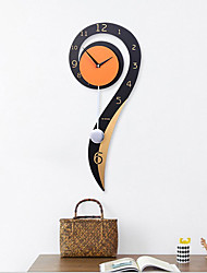 cheap -Modern Contemporary Wood / Metal Novelty / Houses Indoor AA Decoration Wall Clock Digital Others No