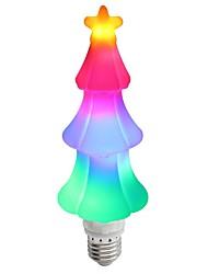 Недорогие -1pc рождественские огни e27 65leds украшение праздничный светильник пламя эффект светящиеся 3d рождественская елка для украшения дома праздник