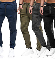 cheap -Men's Running Pants Lace up Pocket Pants / Trousers Thermal Warm Breathable Stripes Dark Grey Black Army Green Nylon Fitness Gym Workout Running Winter Plus Size Sports Activewear Stretchy Regular Fit