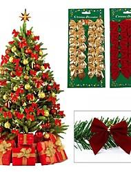 cheap -12PCS Pretty Bow Xmas Ornament Christmas Tree Decoration Festival Party Home Bowknots Baubles Baubles New Year Decoration