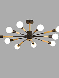cheap -10-Light 100 cm Creative Chandelier Metal Wood / Bamboo Sputnik Painted Finishes Contemporary / Artistic 110-120V / 220-240V