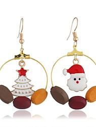 cheap -Women's Mismatch Earrings Mismatched Santa Suits Christmas Tree Ladies Simple Sweet Earrings Jewelry Gold For Christmas Daily 1 Pair
