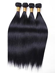 cheap -4 Bundles Burmese Hair Straight Human Hair Natural Color Hair Weaves / Hair Bulk Extension Bundle Hair 8-28 inch Natural Color Human Hair Weaves Women Extention Best Quality Human Hair Extensions