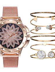 cheap -Women's Bracelet Watch Wrist Watch Analog Quartz Gift Set Ladies Chronograph Creative Casual Watch / One Year / Leather