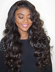 cheap -Human Hair Full Lace Wig Deep Parting Kardashian style Brazilian Hair Body Wave Wig 130% 180% Density 12-24 inch with Baby Hair African American Wig 100% Hand Tied Pre-Plucked Bleached Knots Natural