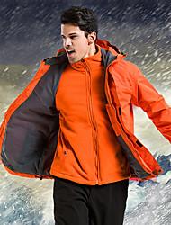 cheap -Men's Hiking 3-in-1 Jackets Winter Outdoor Thermal / Warm Windproof Breathable Rain Waterproof 3-in-1 Jacket Winter Jacket Single Slider Ski / Snowboard Hiking Climbing Black / Orange / Army Green