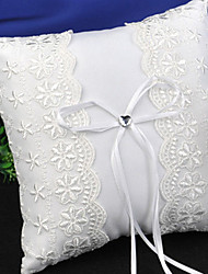 cheap -Lace / Plain Sateen Lace Satin Ring Pillow Pillow All Seasons