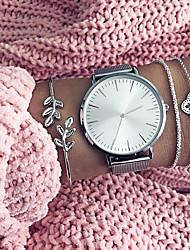cheap -Couple's Wrist Watch Quartz Gift Set Stainless Steel Black / Silver / Gold Chronograph Cute Casual Watch Analog Fashion Minimalist - Gold / Black Rose Gold Black / Rose Gold One Year Battery Life