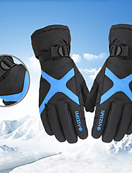 cheap -Sports Gloves Winter Gloves Ski Gloves Men's Women's Snowsports Full Finger Gloves Winter Waterproof Windproof Warm Flannel Nylon Spinning Cotton Skiing Snowsports Snowboarding