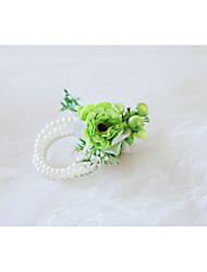 cheap -Wedding Flowers Wrist Corsages Wedding / Wedding Party Bead / Fabrics 0-10 cm