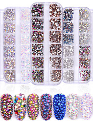 cheap -1440 pcs Classic / High Transparency Rhinestone Nail Jewelry Rhinestones For Finger Nail Wedding Ball nail art Manicure Pedicure Party / Evening / Daily / Engagement Party Artistic / Aristocrat Lolita