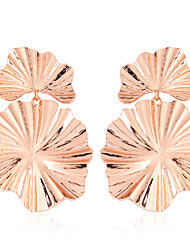 cheap -Women's Drop Earrings Vintage Style Ladies Stylish European Hammered Gold Plated Rose Gold Plated Earrings Jewelry Gold / Silver / Rose Gold For Street 1 Pair