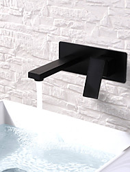 cheap -Bathroom Sink Faucet - Widespread /  Design Painted Finishes Wall Mounted Single Handle Two HolesBath Taps