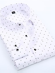 cheap -Men's Graphic Shirt Basic Wedding Party Daily White / Blushing Pink / Navy Blue / Light Blue