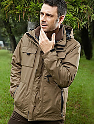 cheap -Men's Hiking 3-in-1 Jackets Winter Outdoor Waterproof UV Resistant Breathable Rain Waterproof 3-in-1 Jacket Winter Jacket Single Slider Ski / Snowboard Hunting and Fishing Camping / Hiking / Caving