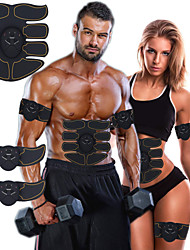 cheap -Abs Stimulator Abdominal Toning Belt EMS Abs Trainer 6 pcs Sports Gym Workout Exercise & Fitness Bodybuilding Smart Electronic Muscle Toner Muscle Toning Tummy Fat Burner Ultimate Training For Leg