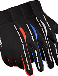 cheap -Winter Bike Gloves / Cycling Gloves Mountain Bike Gloves Mountain Bike MTB Thermal / Warm Touch Screen Reflective Waterproof Full Finger Gloves Touch Screen Gloves Sports Gloves Fleece Silicone Gel