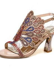 cheap -Women's Sandals Stiletto Heel Synthetics Summer Almond / Green / Blue