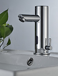 cheap -Bathroom Sink Faucet - Sensor Chrome Free Standing Hands free One HoleBath Taps / Stainless Steel