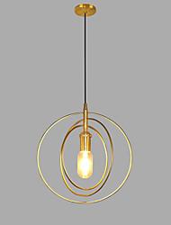 cheap -1-Light Lightinthebox 28 cm Pendant Light Metal Mini Gold Contemporary / Artistic AC100-240V