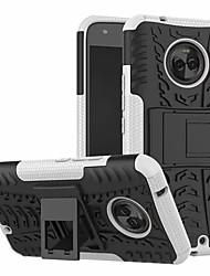 Недорогие -Кейс для Назначение Motorola Moto X4 со стендом Кейс на заднюю панель броня Твердый ПК