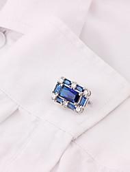 abordables -Boutons de manchettes Métallique Classique Alliage Broche Bijoux Blanche Bleu Gris Pour Travail Festival