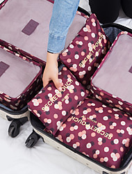 cheap -6 sets Travel Organizer / Travel Luggage Organizer / Packing Organizer Large Capacity / Waterproof / Portable Floral Bras / Clothes Nylon Travel / Durable