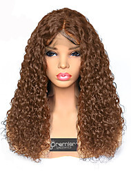 cheap -Remy Human Hair Lace Front Wig Deep Parting style Brazilian Hair Curly Wig 180% Density with Baby Hair Best Quality Hot Sale Thick Women's Long Human Hair Lace Wig Premierwigs