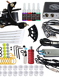 cheap -DRAGONHAWK Tattoo Machine Starter Kit - 1 pcs Tattoo Machines with 4 x 5 ml tattoo inks, Professional, Safety, Easy to Install Alloy Mini power supply Case Not Included 1 cast iron machine liner