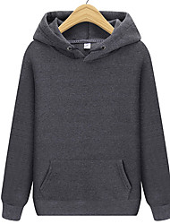 cheap -Men's Basic Long Sleeve Hoodie - Solid Colored Hooded Purple L