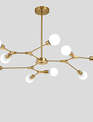 cheap -9-Light Electroplated Northern Europe Chandelier 9-Head Modern Metal Molecules Pendant Lights Living Room Dining Room Bedroom