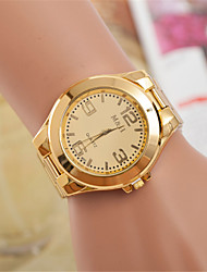 cheap -Couple's Wrist Watch Quartz Gold Casual Watch Analog Fashion Elegant - White Golden One Year Battery Life