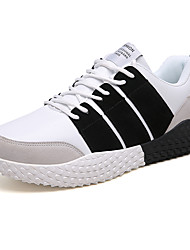 cheap -Men's Light Soles PU Fall Casual Athletic Shoes Walking Shoes Breathable Pink / White / Black / White