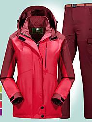 cheap -Women's Hiking Jacket with Pants Winter Outdoor Windproof Rain Waterproof Anatomic Design Wear Resistance Winter Jacket Full Length Hidden Zipper Ski / Snowboard Climbing Camping / Hiking / Caving