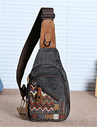 Недорогие -Жен. холст Слинг сумки на ремне Брезентовый чехол Геометрический рисунок Пурпурный