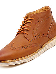 cheap -Men's Fashion Boots PU Fall Casual Boots Non-slipping Black / Brown / Gray