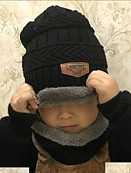 cheap -Kids Unisex Active / Basic Daily / School Solid Colored Cotton / Acrylic Hats & Caps Black / Red / Gray One-Size