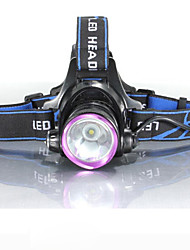 cheap -3Mode Headlamps Bike Light Headlight Waterproof Rechargeable 2000 lm LED LED 1 Emitters 3 Mode with Batteries and Chargers Waterproof Rechargeable Impact Resistant Camping / Hiking / Caving Everyday