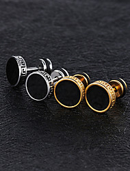 cheap -Men's Stud Earrings Magic Back Earring Vintage Style flat back Vintage Trendy Titanium Steel Platinum Plated Rose Gold Plated Earrings Jewelry Gold / Silver For Street 1 Pair