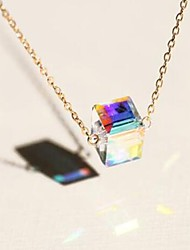 cheap -Women's Crystal Pendant Necklace Solitaire Ladies Natural Fashion Iridescent Alloy Gold 40 cm Necklace Jewelry 1pc For Party / Evening Gift