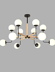cheap -12 Bulbs 90 cm Creative Chandelier Metal Glass Sputnik Painted Finishes Artistic / Modern 110-120V / 220-240V