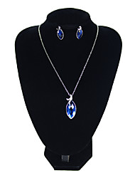 cheap -Women's Blue Drop Earrings Choker Necklace Retro French Earrings Jewelry Silver For Formal Festival 1 set