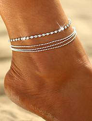 abordables -Femme Bracelet de cheville Perles Romantique Bracelet de cheville Bijoux Dorée / Argent Pour Plein Air Sortie