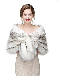 cheap -Sleeveless Capelets Faux Fur Wedding / Party / Evening Women's Wrap With Solid / Fur